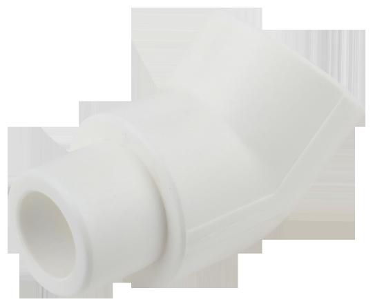 Cot PPR alb Ø20 mm la 45° interior-exterior
