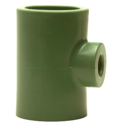 Teu redus Ø75-Ø32-Ø75 PPR verde