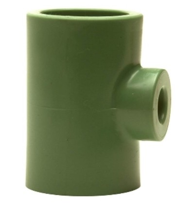 Teu redus Ø110-Ø75-Ø110 PPR verde