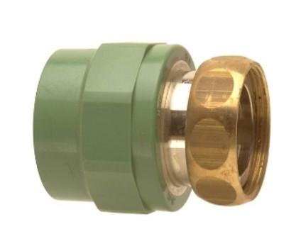 """Adaptor cu semiolandez Ø40-1 1/2"""" PPR verde"""
