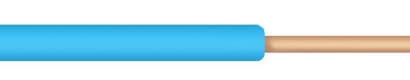 Conductor monofilar FY 1,5 mmp albastru la colac de 100 m