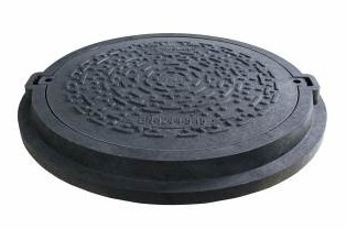 """Capac negru tip """"Euro"""" pentru camine de canalizare Ø825 mm -1,5 tone"""