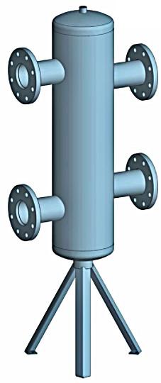 Butelie de egalizare 90 mc/h - 2093.4 kW Fome + izolatie