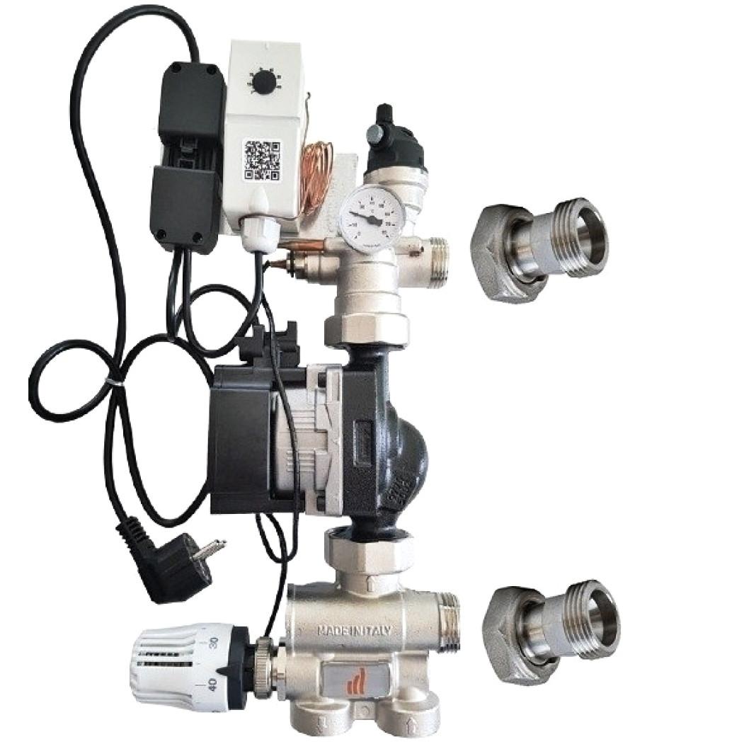 Grup de amestec cu pompa electronica  Grundfos UPM3 Auto L 25-50 pentru incalzire in pardoseala Purmo TempCo Fix Eco 2