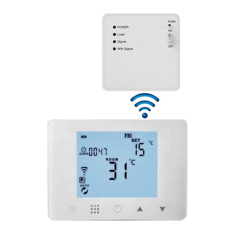 Termostat smart, programabil prin telefon, cu unde radio si butoane tactile, Daver DVR.09RF-WIFI