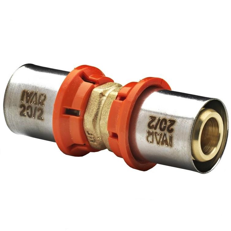 Racord dublu sertizare Ø20/2mm x Ø20/2mm