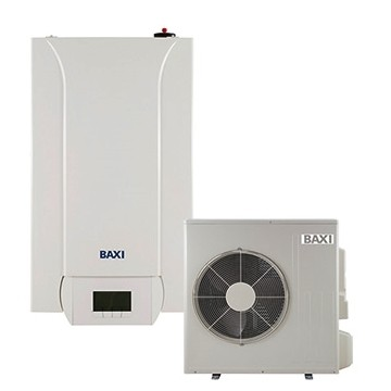 Pompa de caldura aer-apa, 4,60/3,80 kW, 230V, cu rezistente electrice integrate, montaj pe perete, Baxi PBS-i 4.5 MR E WH2