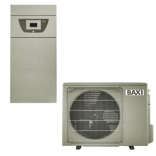Pompa de caldura aer-apa, 4,60/3,80 kW, 230V, cu rezistente electrice integrate, montaj pe pardoseala, Baxi PBS-i 4.5 MR E FS2