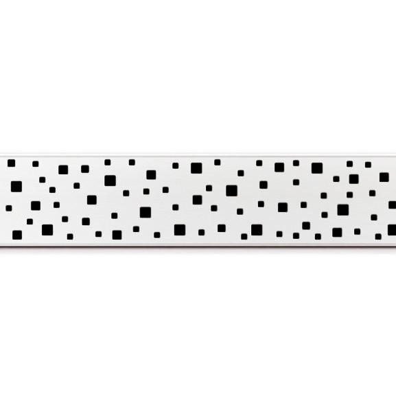 Rigola de dus cu montaj la perete si cu gratar Square lucios de 450x60mm