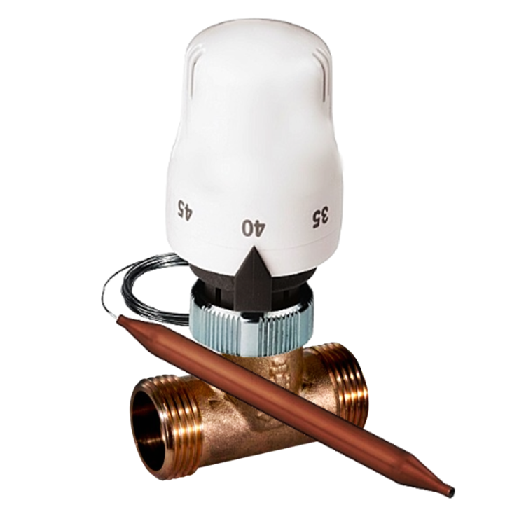 "Kit termostatic de protectie la supratemperatura, 1/2"", Daver"