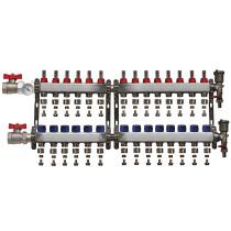 "Distribuitor set complet  1"" / 14 circuite cu conectori EK x 16 mm, Daver"