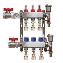 "Distribuitor set complet  1"" / 3 circuite cu conectori EK x 17 mm, Daver"