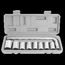 Trusa 9 chei tubulare cu maner cupla 10 - 24 mm