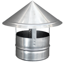 Capac terminal inox pentru cos de fum  Ø130 mm