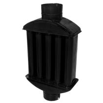 Recuperator de caldura emailat negru mat  Ø130 mm
