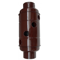 Recuperator compact de caldura emailat maro  Ø130 mm