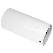 Burlan metalic emailat alb Ø130x1000 mm