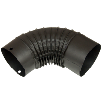 Cot pentru burlan metalic emailat negru mat Ø130 mm
