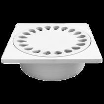 Sifon pardoseala din ABS 200x200 mm cu iesire verticala Ø75 mm pentru pardoseala