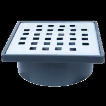 Sifon patrat 100x100 mm cu iesire verticala Ø40 mm pentru pardoseala