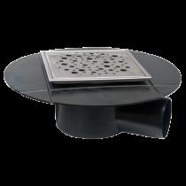 Sifon izolabil inox 120x120 mm cu iesire laterala Ø40 mm pentru pardoseala