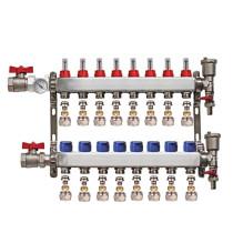 "Distribuitor set complet  1"" / 8 circuite cu conectori EK x 17 mm, Daver"