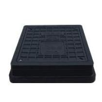 Capac negru cu siguranta pentru camine de canalizare 494x545 mm - 12,5 tone