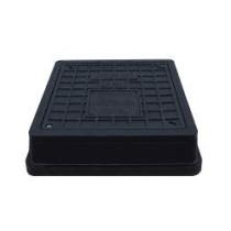 Capac negru cu siguranta pentru camine de canalizare 494x545 mm - 25 tone