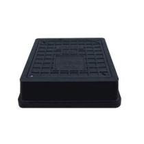 Capac negru cu siguranta pentru camine de canalizare 494x545 mm - 40 tone