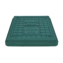 Capac verde cu siguranta pentru camine de canalizare 494x545 mm - 1,5 tone