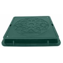 Capac verde cu siguranta pentru camine de canalizare pentru gradina 710x710 mm - 1 tona