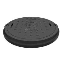 """Capac negru tip """"Grand"""" pentru camine de canalizare Ø990 mm -12,5 tone"""