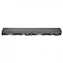 Rigola de exterior cu gratar din plastic 1015X130 mm