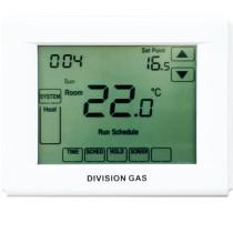 Termostat ambiental pentru centrala, programabil, cu baterii si touchsreen, Division Gas DG3000