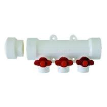 Distribuitor PPR alb cu 3 circuite pentru apa calda