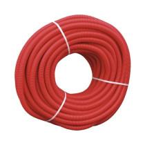 Tub flexibil gofrat rosu Ø40 mm la colac de 25 m