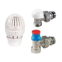 "Set robinet radiator tur termostatat, cap termostatic si robinet retur 1/2"" Giacomini"