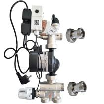 Grup de amestec cu pompa electronica  Grundfos ECO3 Auto L 25-70  pentru incalzire in pardoseala Purmo TempCo Fix Eco 3