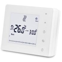 Termostat programabil, cu butoane tactile, pentru centru de comanda cu unde radio, Daver DVR.05RF