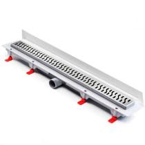 Rigola de dus cu montaj la perete si cu gratar Harmony mat de 350x60mm