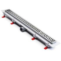 Rigola de dus cu gratar Harmony mat de 650x60mm