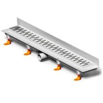 Rigola de dus cu montaj la perete si cu gratar Medium mat de 750x60mm