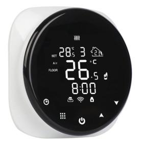Termostat smart, programabil prin telefon, cu montaj in doza si ecran tactil, Daver DVR.316WW-WIFI