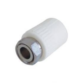 "Racord PPR alb  Ø25 mm cu semiolandez 3/4"""