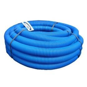 Tub flexibil gofrat albastru Ø25 mm la colac de 50 m