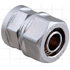 """Conector nichelat pentru teava PEX  25 x 2,3 mm x 1"""" FI"""