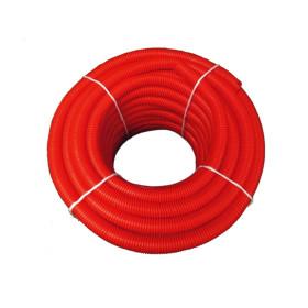 Tub flexibil gofrat rosu Ø32 mm la colac de 50 m