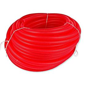 Tub flexibil gofrat rosu Ø25 mm la colac de 50 m