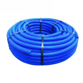 Tub flexibil gofrat albastru Ø32 mm la colac de 50 m