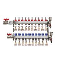 "Distribuitor set complet  1"" / 10 circuite cu conectori EK x 17 mm, Daver"